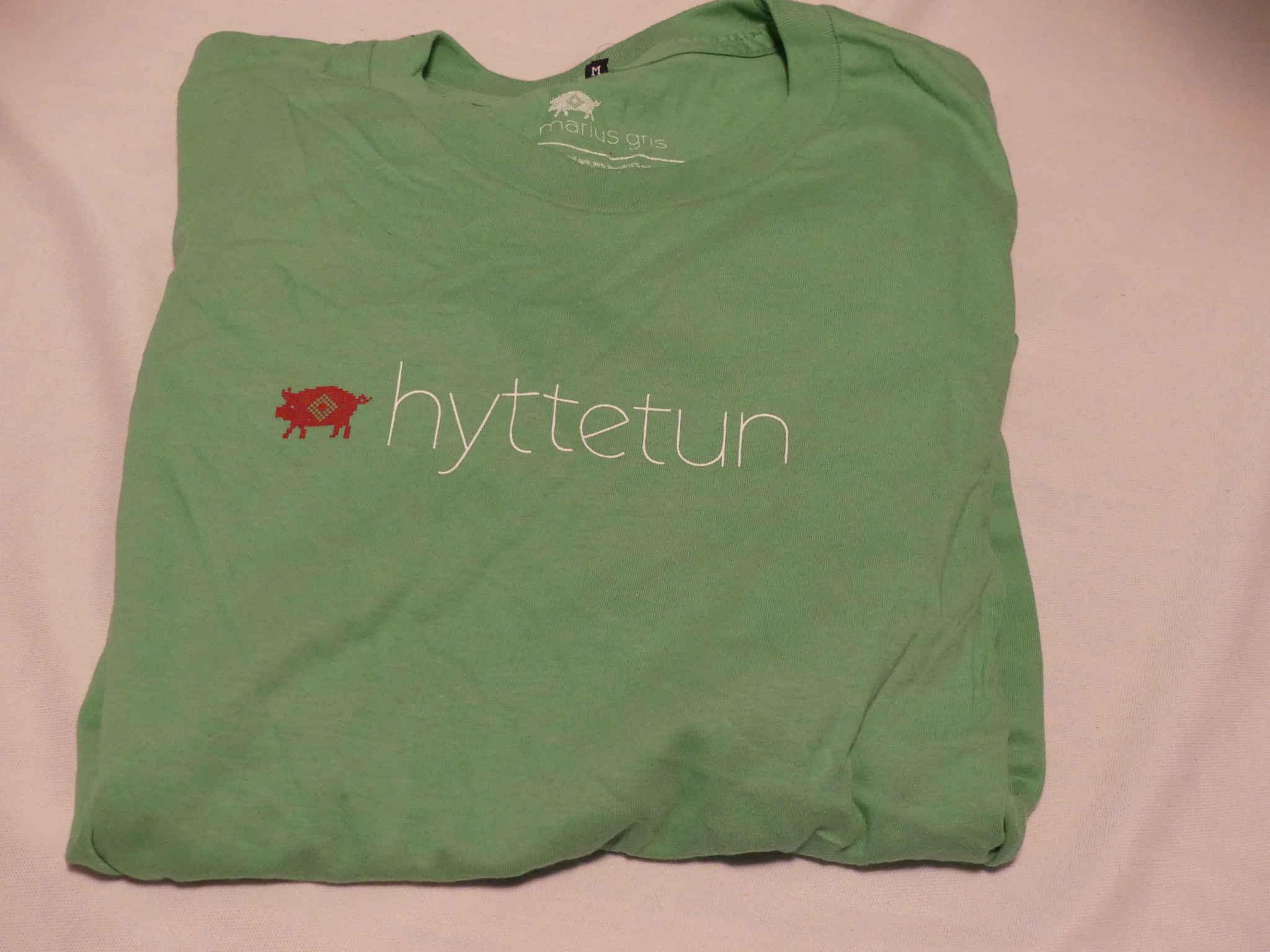 Hyttetun t-skjorte grønn