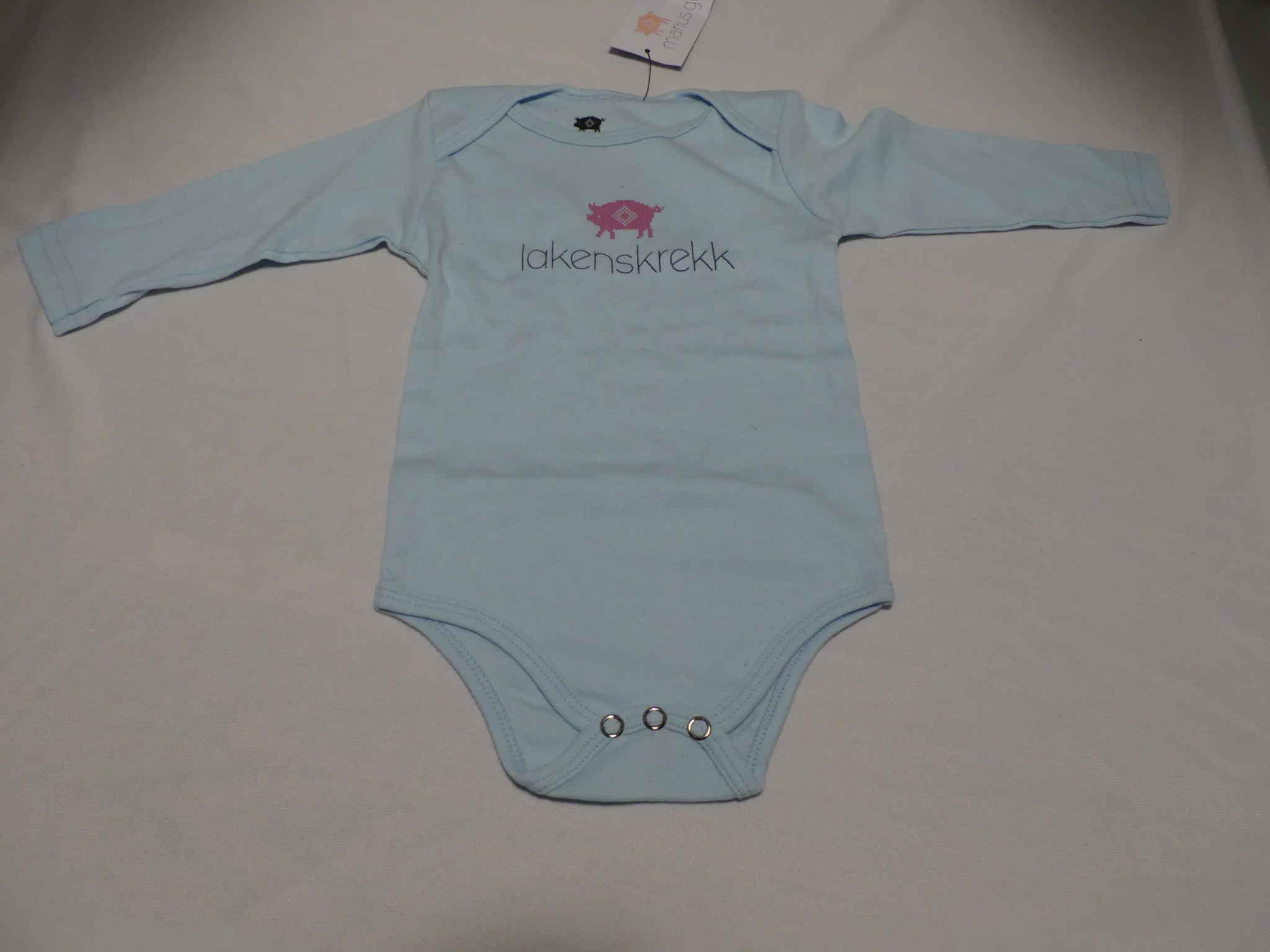 Lakenskrekk body baby 6-12 mnd (lys blå)
