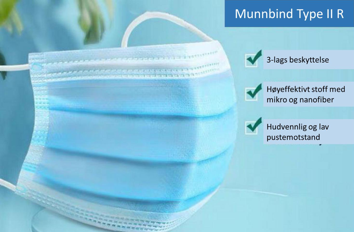 Munnbind – 3 lags – Type II R